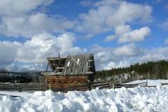 British Columbia Ranch Cabin 2675 Snow © Ann DeMuth