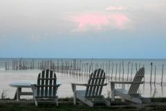 Adirondack Chairs Chesapeake Bay © Ann DeMuth