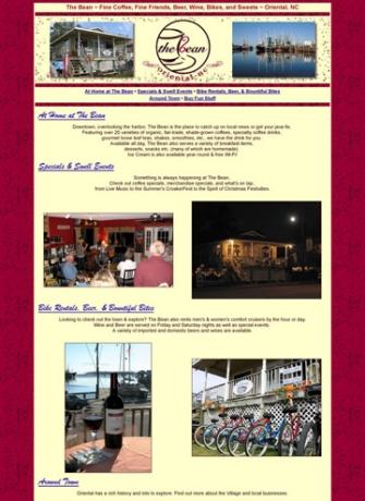 Coffee Shop, NC web site