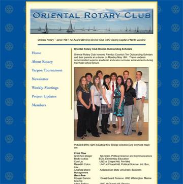 Rotary Club, NC web site