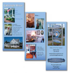 Brochure for Bed and Breakfast, NC by A.D.design