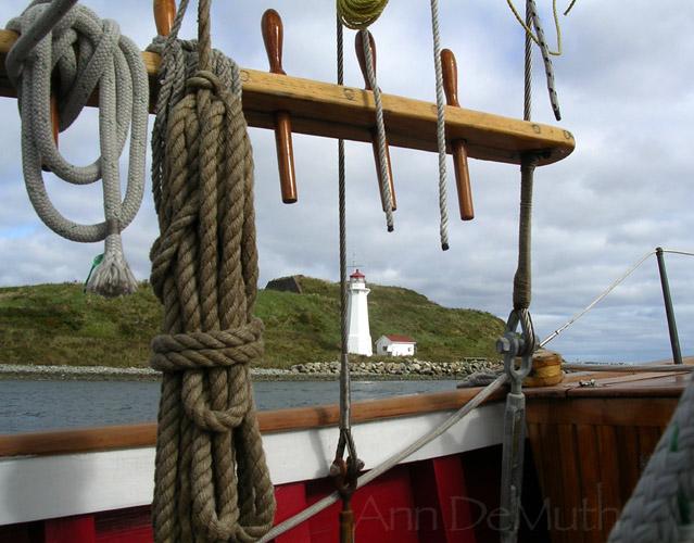 Tall ship Halifax lighthouse ©Ann DeMuth