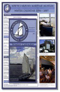 Calendar brochure for a Maritime Museum, NC